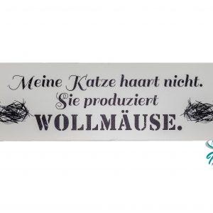 Blechschilder 28,5×9 cm Katzenzubehör