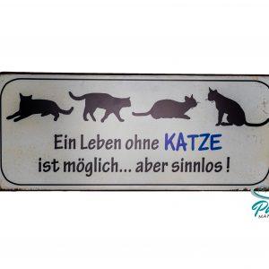 lafinesse-blechschild-ein-leben-ohne-katze-ist-moeglich-30-×-13-cm