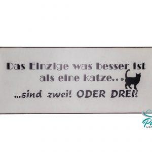 Blechschilder 30 ×13 cm Katzenzubehör