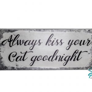 lafinesse-blechschild-always-kiss-your-cat-goodnight-30--13-cm