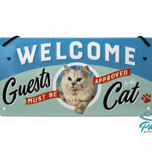 1nostalgic-art-tuerschild-welcome-guests-must-be-approved-cat-ca-10-×-20-cm