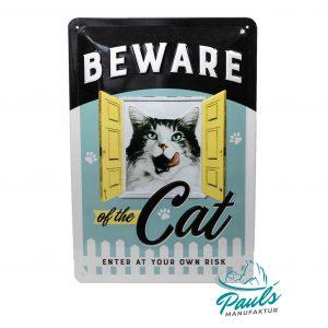 1nostalgic-art-blechschild-beware-of-the-cat-20-×-30-cm