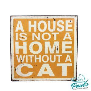 Blechschilder verschiedene Größen Katzenzubehör